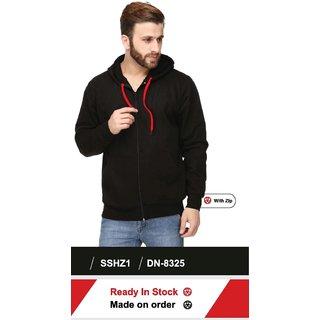 100ANB Mens Black Hooded Sweatshirts