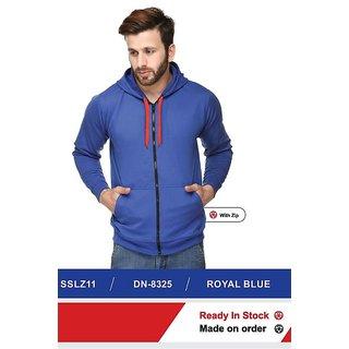 100ANB Mens Blue Hooded Sweatshirts