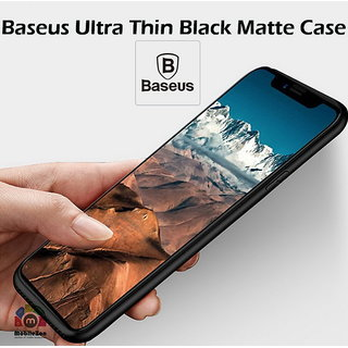 Buy Baseus iPhone X Ultra Thin Black Back Cover Silicone Case With Camera Protection Online - Get 60% Off