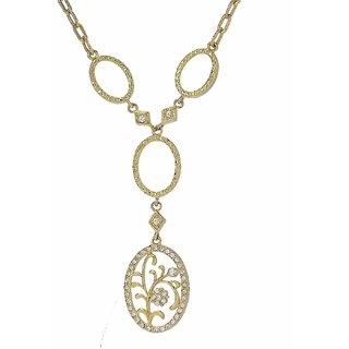 Apriati Gold Plated Gold Pendant With Chain Only for Women's