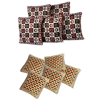 Manvi Creations Polycotton Cushion Cover Set of 2