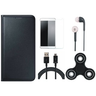 K6 Note Cover with Spinner, Earphones, Tempered Glass and USB Cable
