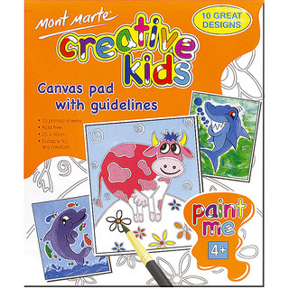 Creative Kids Canvas Pad 10Sheets