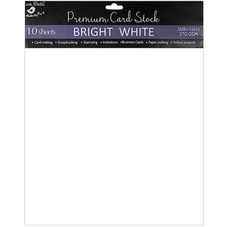 Cardstock 12x12 inch 270 gsm - Bright White