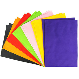 Coloured Premium Soft Felt Sheet A4 - Assorted
