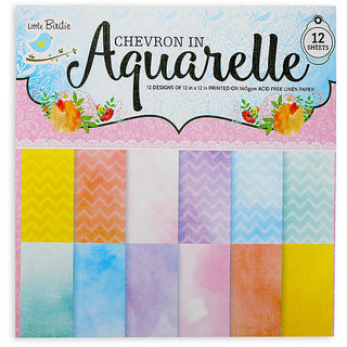 Chevron in Aquarelle Paper pack 12 x 12 inch
