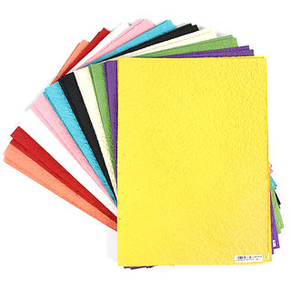 Buy Coloured Handmade Craft Paper A4 Size 200 Gsm 20 Sheets 10