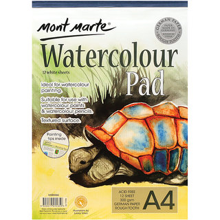 Watercolour Pad 300Gsm, A4Size ,12Sheets