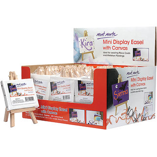 Mini Display Easel With Canvas 8X10Cm-1Pc