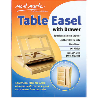 Pine Table Easel With Drawer 1Pc