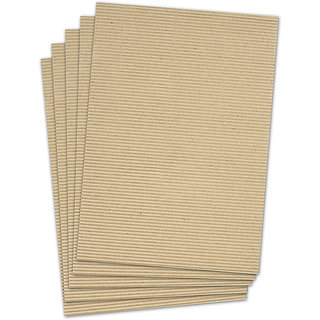 buy corrugated sheet a4 size natural brown color 5 sheets used