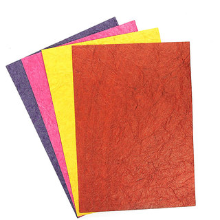 Buy Colored Handmade Craft Paper Leather Metallic A4 Size 200 Gsm
