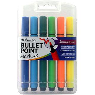 BULLET PONT MARKERS-12pcs