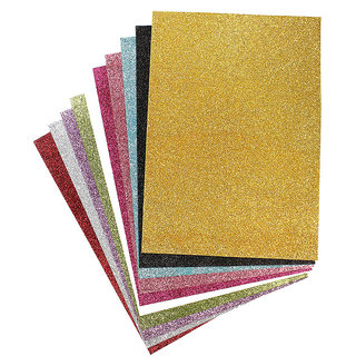 Coloured Glitter Sheet A4 200 gsm - Assorted