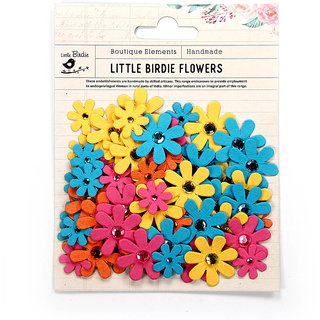 Handmade Paper Flowers -Jewelled Florettes Tropical Starburst