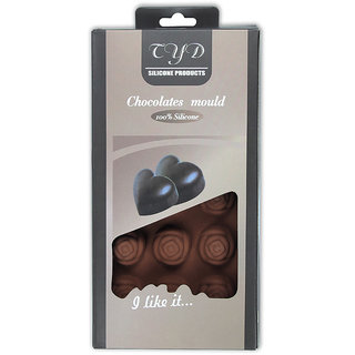 Silicone Chocolate Mould 15 Cavity -Rose