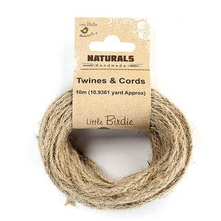 Jute braided flat twine  - Natural