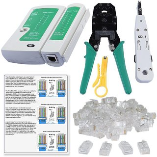 SET COMBO OFFER Punch Down Tools, CRIMPING Tools ,LAN tester DIY RJ45 CONNECTOR