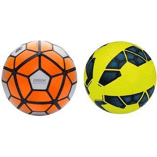 Ordem White Orange + Premier League Yellow Blue Football (Size-5).  RetailWorld 9c15066da4d8e