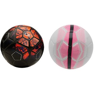 d9b7a1b702065f Buy CR7 Black Red Football (Size-5) + Mercurial White Pink Football (Size-5)  Online - Get 74% Off