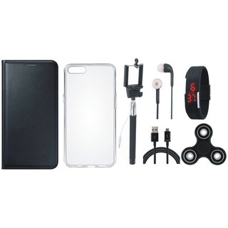 Lenovo A6600 Cover with Spinner, Silicon Back Cover, Selfie Stick, Digtal Watch, Earphones and USB Cable