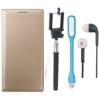 Lenovo A6600 Cover with Selfie Stick, Earphones and USB LED Light