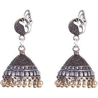 Mahima Trends Brass Material Oxidized Plating  Earrings