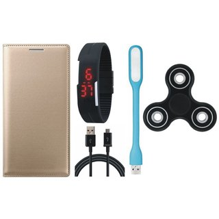 Lenovo A6600 Cover with Spinner, Digital Watch, USB LED Light and USB Cable