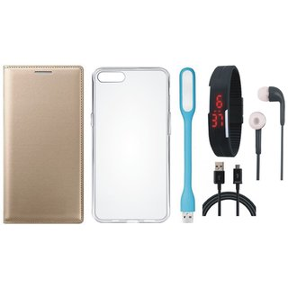 Lenovo A6600 Stylish Cover with Silicon Back Cover, Digital Watch, Earphones, USB LED Light and USB Cable