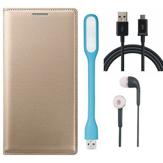 Oppo Neo 5 Premium Leather Cover with Earphones, USB LED Light and USB Cable