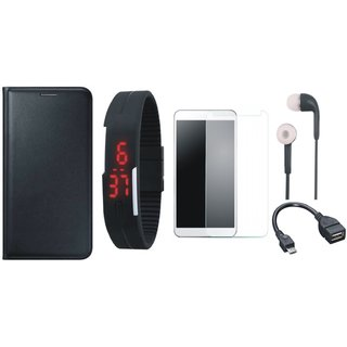 Oppo Neo 5 Cover with Free Digital LED Watch, Tempered Glass, Earphones and OTG Cable