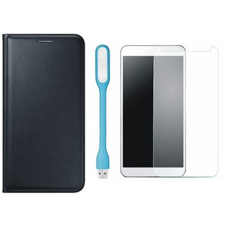 Oppo Neo 5 Stylish Cover with Tempered Glas and USB LED Light