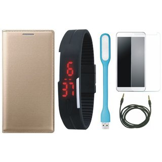 Lenovo A6600 Plus Cover with Free Digital LED Watch, Tempered Glass, LED Light and AUX Cable
