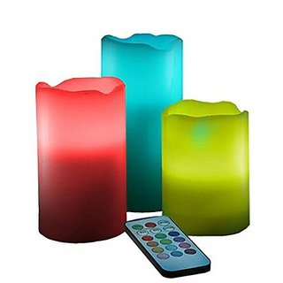 Geetakart Mcart Shopee Candles Real Wax Flameless Candles 3 Led Candles Plus Remote Control Timer (3 Candle Set)