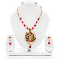 Senorita Traditional Necklace Set JVPS2 With Goddess Lakshmi Pendant And Antique