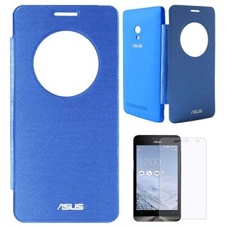 san francisco 97b71 ce818 TBZ Flip Cover Case -Royal Blue for Asus Zenfone 5 with Screen Guard