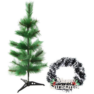 Creativity Centre Christmas Pine Tree Two Feet With Merry Christmas Wall Hanging