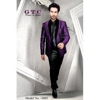 GTC Men's Purple Color Slim Fit Blazer