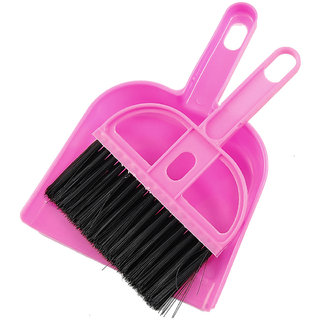 Mini Plastic Dust Pan With Mini Plastic Brush - Single Peice