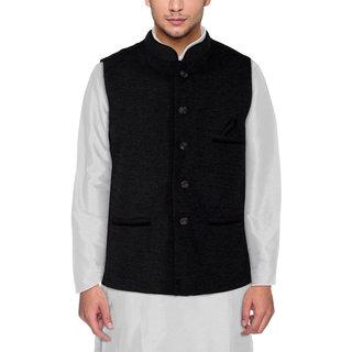 Buy Men S Modi Jacket Nehru Jacket Black Colour New Fashion Winter