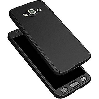 IPAKY SAMSUNG GALAXY J2 FULL BODY 360 DEGREE PROTECTION FRONT + BACK COVER  TEMPER GLASS ( BLACK )