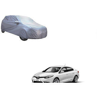 Autonity Car Body Cover Silver With Mirror and Antenna Pocket and Buckle belt For Renault Fluence
