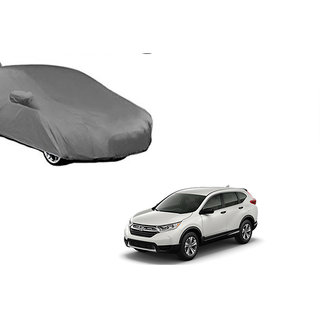 Autonity (2 x 2) American Matt Finish Triple Stitched  Car Body Cover with Mirror & Antenna Pockets,Buckle Belt  For Honda CRV