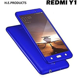 best website f0f4c 1a2e7 SK REDMI Y1 360 Degree Full Body Protection Front Back Case Cover (iPaky  Style) with Tempered Glass (