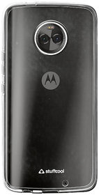 SAVINGUP TPU Clear Soft Back Case Cover for Motorola Moto X4 - Transparent