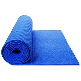 S4D Yoga Mat / Meditation Mat 4 MM Thick Anti Skid Soft PVC 172 x 60 CM Random Color