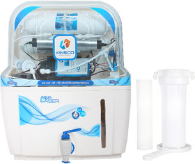 Kinsco Aqua Laser 15 L Ro+Uv+Uf+Tds Adjuster Water Purifier With Prefilter(White)