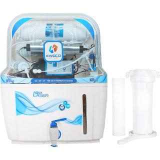 Kinsco Aqua Laser 15 L Ro+Uv+Uf+Tds Adjuster Water Purifier With Prefilter(White)