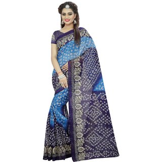 Laxminarayan Blue Bhagalpuri Silk Party  Sarees