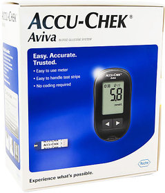 Accu-Chek Aviva Blood Glucose Meter With 10 Test Strips